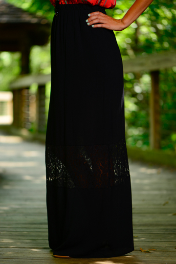Lace Accent Maxi