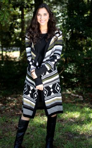 Lourdes Printed Sweater Wrap