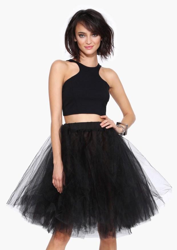 Currently Coveting: Black Swan Mesh Skirt