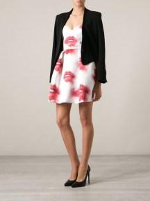 MSGM Lip Print Dress