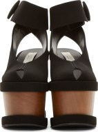 Stella McCartney Black Cut-Out Platform Sandal