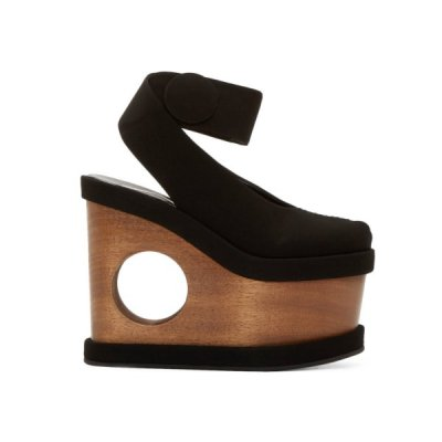 Spotted On The Street: Stella McCartney Black Cut-Out Platform Sandals
