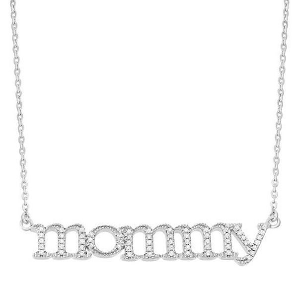 "Pick Of The Day: 1/6 Carat T.W. Diamond Sterling Silver ""Mommy"" Necklace"