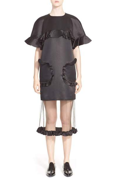 Currently Coveting: PASKAL Ruffle Trim Charmeuse High-Low Dress