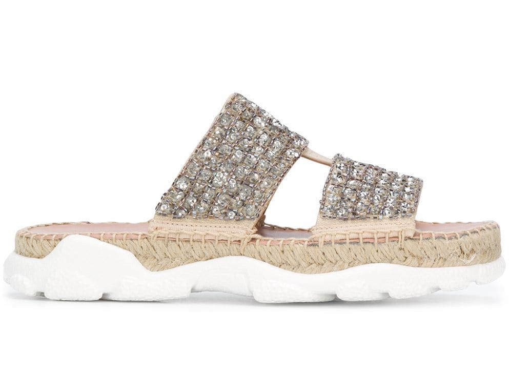 Twin-Set Embellished Sporty Sandals