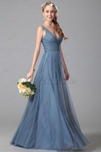 New Dusty Blue Bridesmaid Dresses for wedding ...