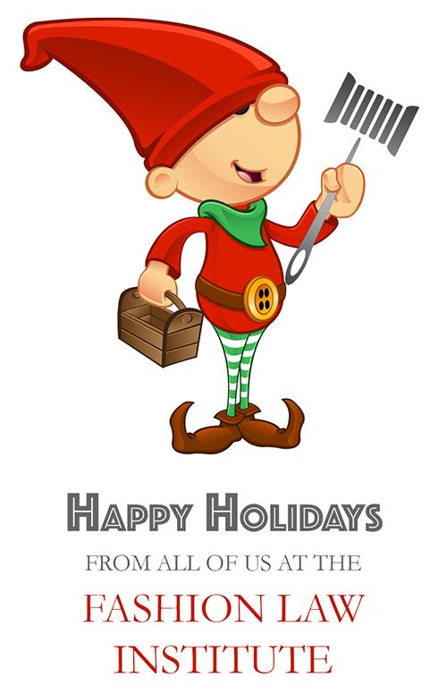 Fashion Law Institute holiday elf