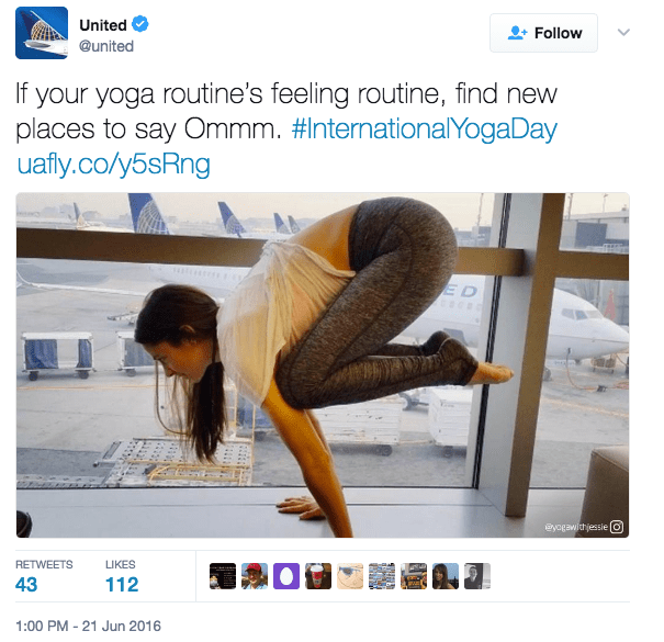 United was for yoga pants before it was against them