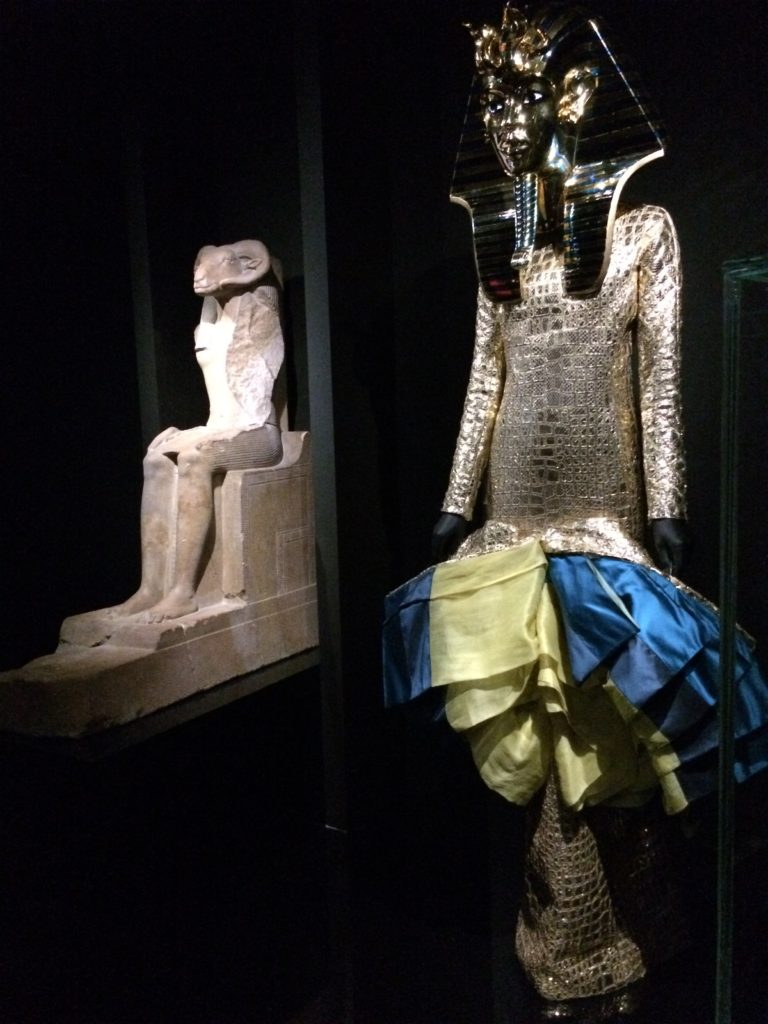 Dior design inspired by Egyptian statuary