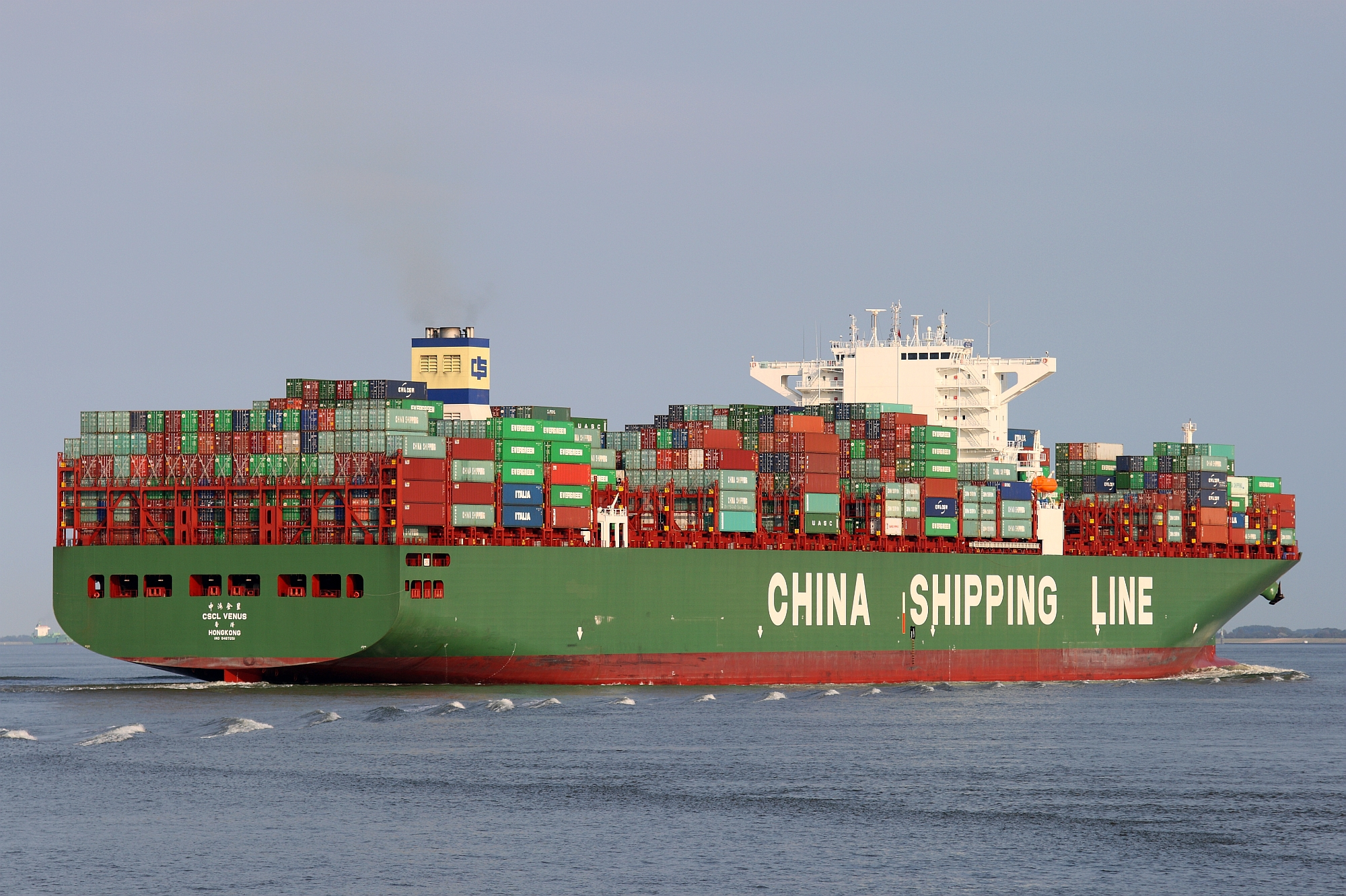 China Shipping Line freighter with containers