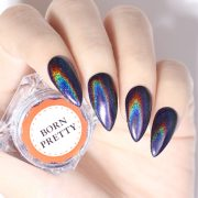 rainbow metallic nail art fashionleech