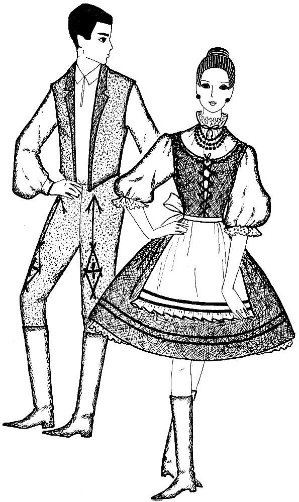 Рис. 37. Венгерский костюм