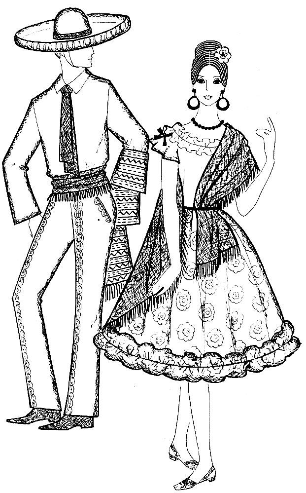 Рис. 49. Мексиканский костюм