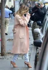 la-modella-mafia-Kim-Kardashian-minimal-chic-2013-street-style-in-a-pastel-pink-Celine-coat-with-Gianvito-Rossi-heels-2