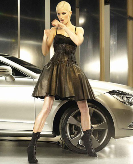 Model Karolina Kurkova walks the runway at the Gottex