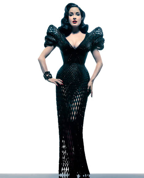 Dita Von Teese 3D dress 1