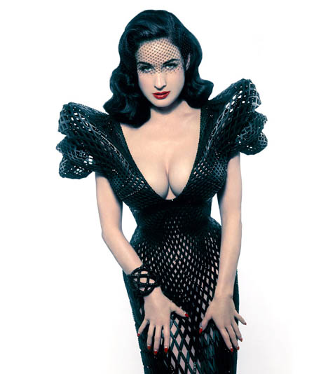 Natazsha Icon Dita Teese: Dita Von Teese Models The World's First 3D Dress