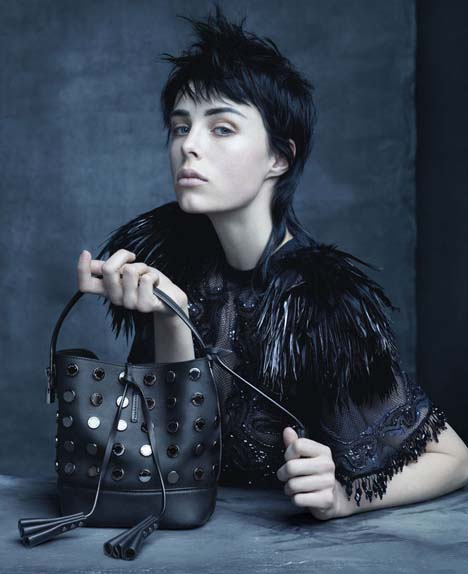 Edie Campbell by Steven Meisel for Louis Vuitton