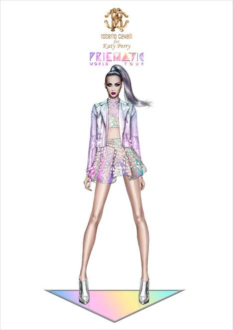 The mini 'Perfecto' biker jacket is created in printed leather with a holographic reptile motif.