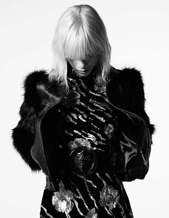 Marjan Jonkman in Saint Laurent Glam Leather Jacket