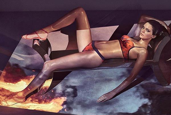 Kendall Jenner La Perla Beachwear
