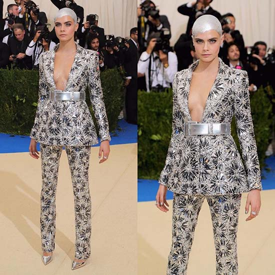 Cara Delevingne in Chanel Haute Couture Met Gala 2017