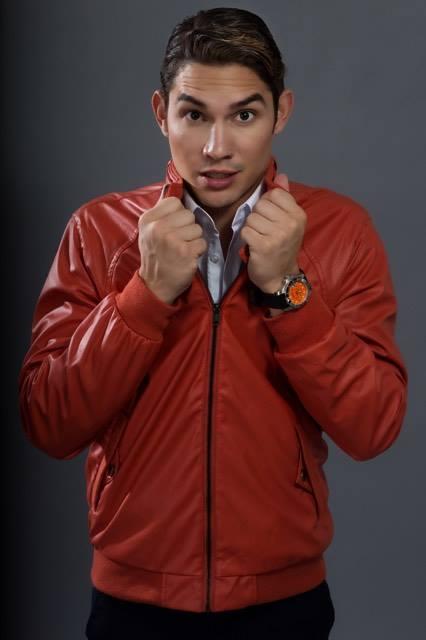 Pants :H & M Orange Jacket: eight Avenue Orange Watch: Victorinox Swiss Army