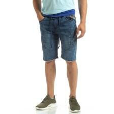 Ανδρικό γαλάζιο τζιν βερμούδα LEGGENDARIO