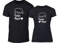 Μπλουζες για ζευγάρια Papa Bear Mama Bear μαύρο