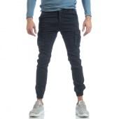 Ανδρικό μπλε cargo Jogger παντελόνι image
