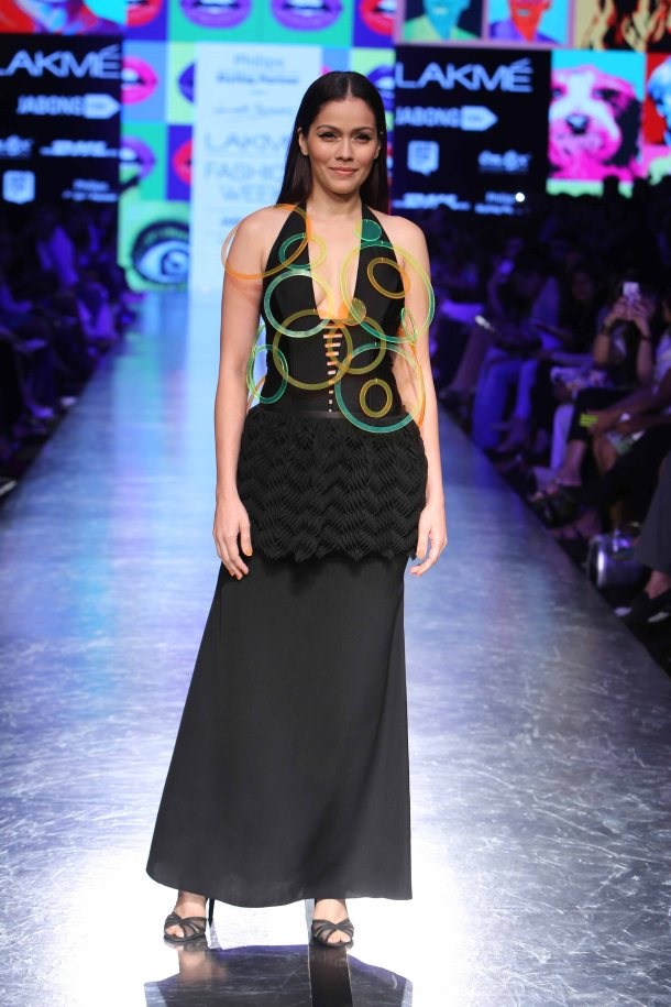 Show stopper, Waluscha Wendell Rodricks presented 'Popology for Philips 2015' at Lakme Fashion Week