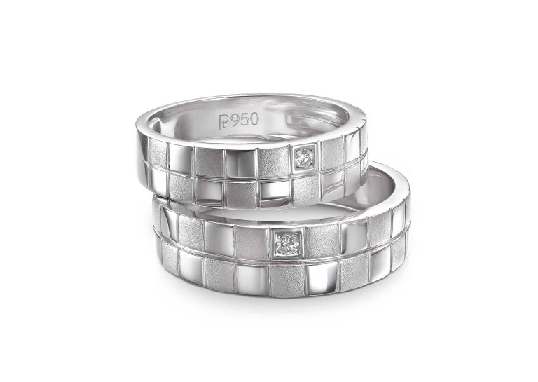 """Platinum Love bands inspired by the design concept of """"Unity of Two"""" (2)"""
