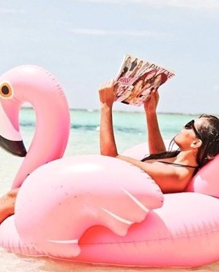 Pink Flamingo Pool Party Float