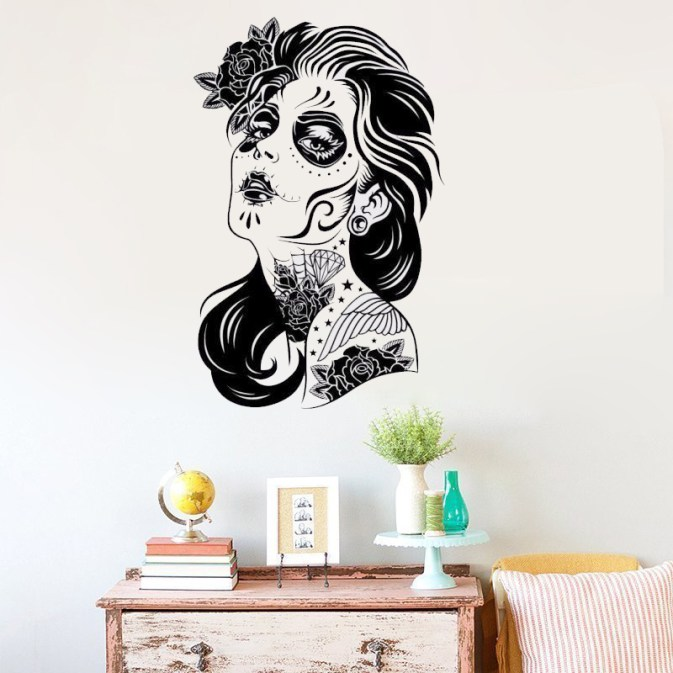 Skull Lady Day of the Dead Decor