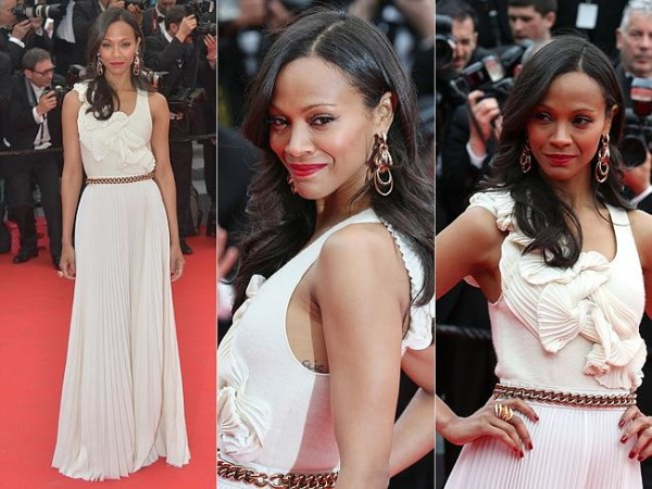 7 Best and worst dressed stars at Cannes Film Festival 2014 - Zoe-Saldan-Cannes