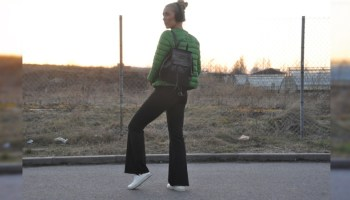 70's inspired wide leg jeans