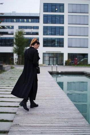 lange schwarze Weste Zara