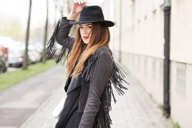 Fringed Jacket velours Leather