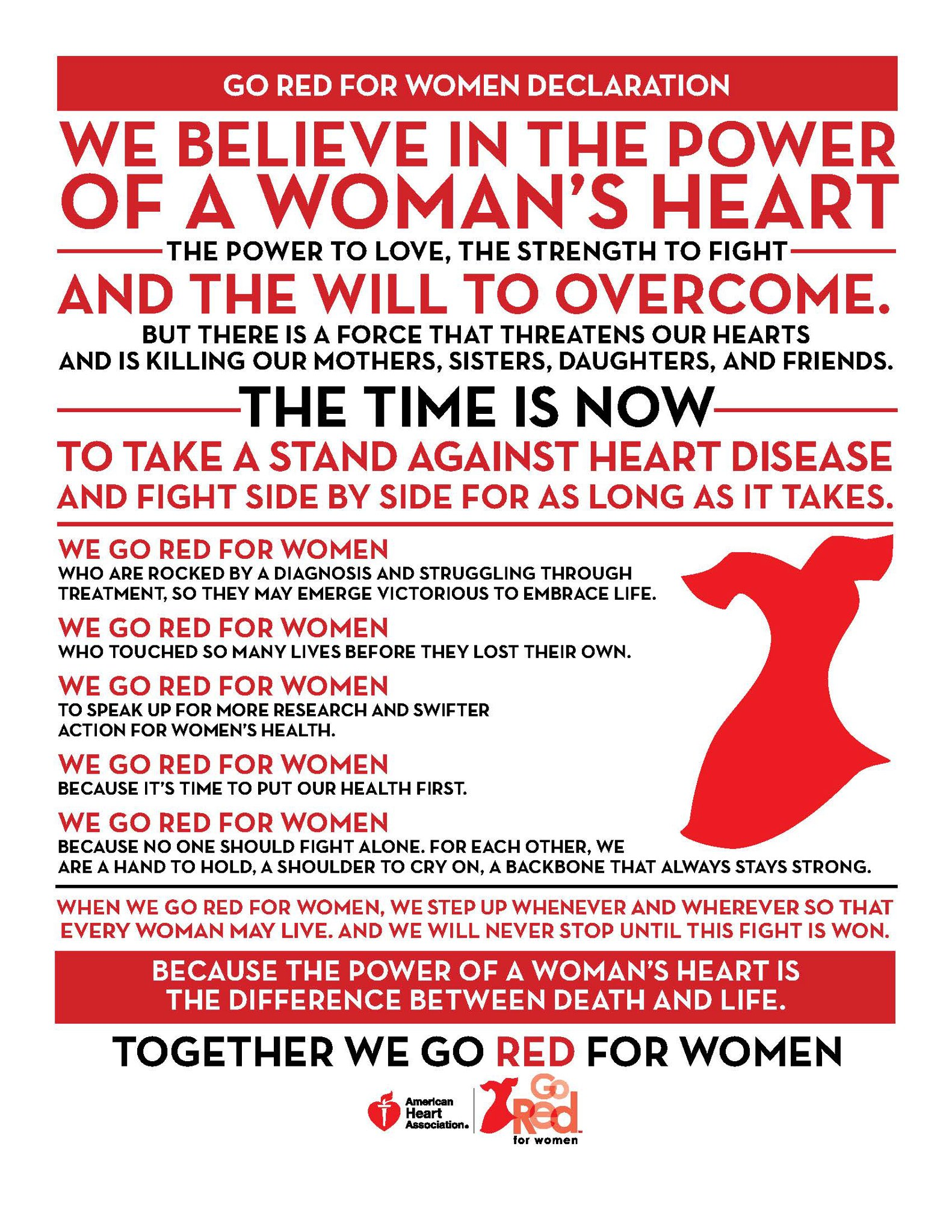 The American Heart Association Holds 10th Annual Wear Red