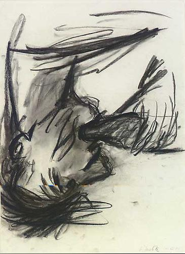 Georg Baselitz Flaschentrinker (Bottle Drinker), 1981 charcoal on paper 24 x 17 inches (61 x 43.2 cm.)