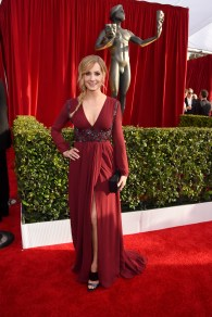 LOS ANGELES, CA - JANUARY 30: Actress Joanne Froggatt attends The 22nd Annual Screen Actors Guild Awards at The Shrine Auditorium on January 30, 2016 in Los Angeles, California. 25650_014 (Photo by Larry Busacca/Getty Images for Turner)