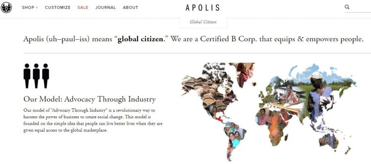 Apolis fashion sustainable brand