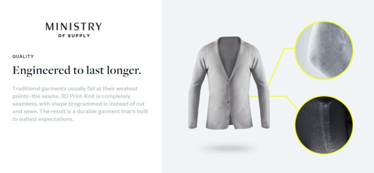 Ministry of Supply 3D print-knit - The Fashion Retailer