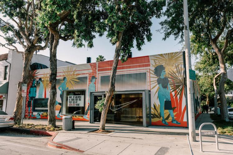 Nike by Melrose curated new concept store in LA omnichannel customized product
