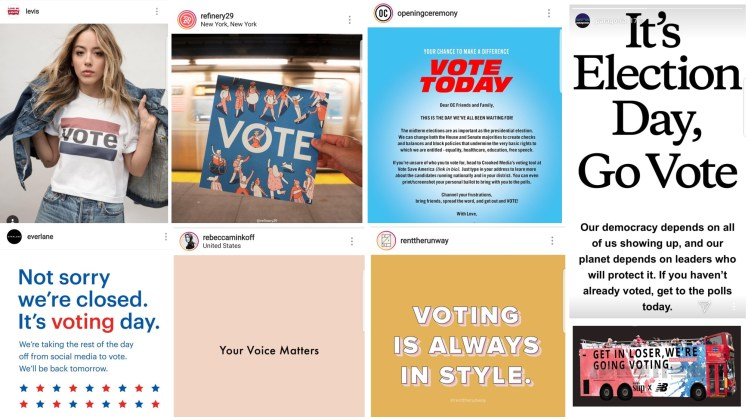 Fashion Politics brands supporting the vote democracy activism