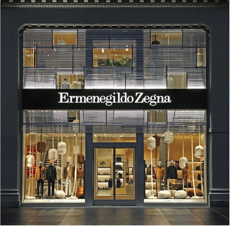 Zegna Store Fashion Luxury brand made in italy