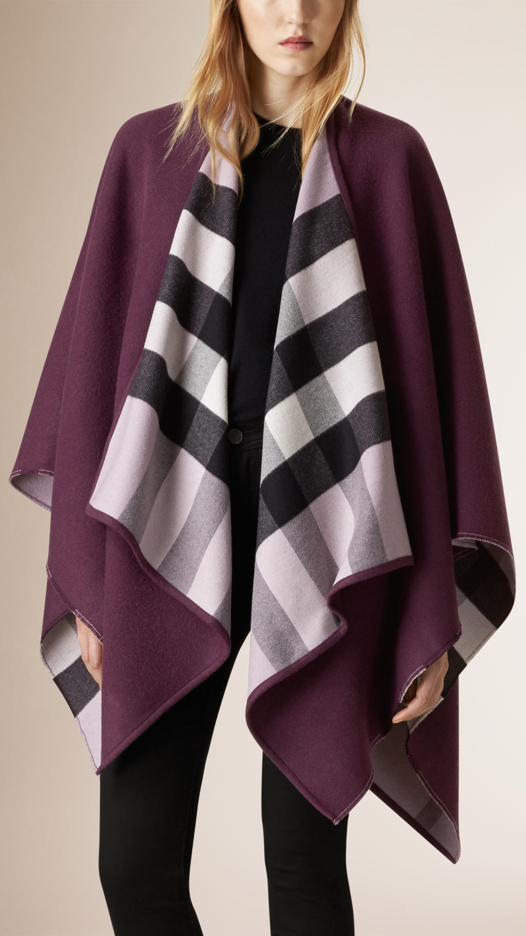 burberry-check-line-wool-wrap-regency-purple