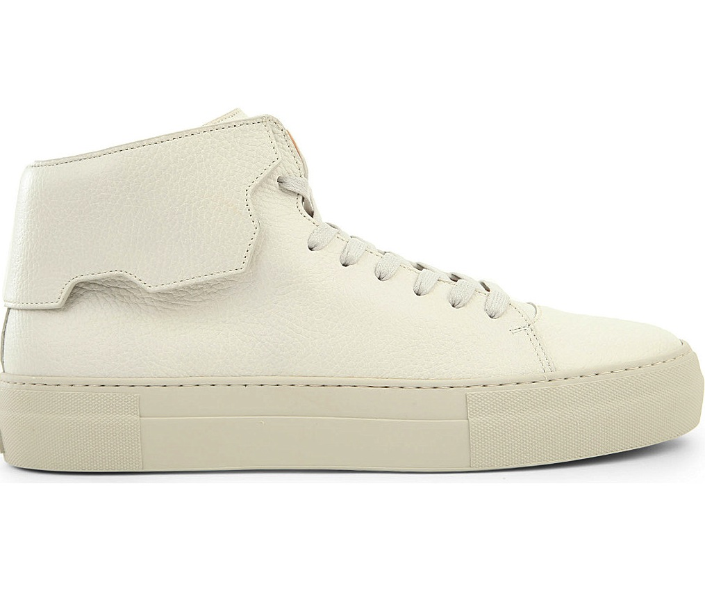 Buscemi 90mm White High Top Sneakers