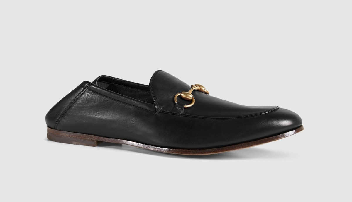 Leather Horsebit Loafer Slingback