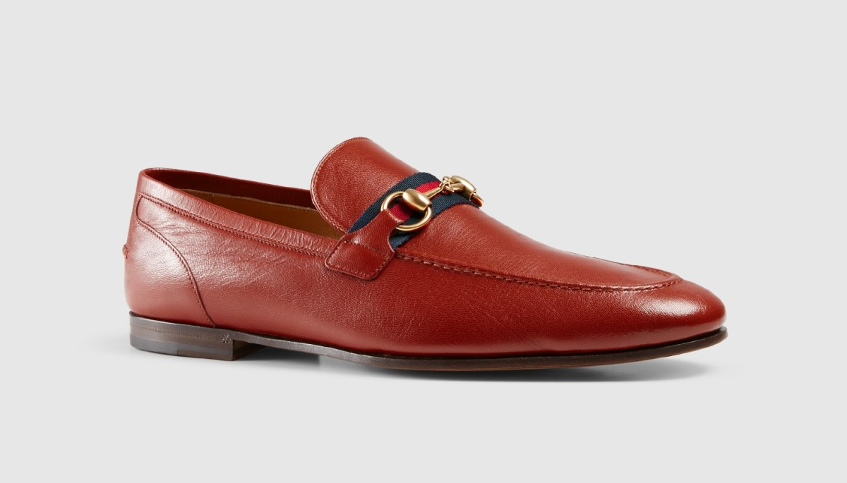 Leather Loafer With Web Detail